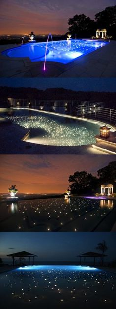 Starry Pool   stars in swimming pool