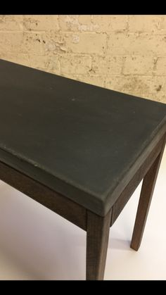 Handcrafted solid beech wood occasional table, with black polished concrete top. #sidetable #coffeetable #modernfurniture #contemporarytable #concretetabletop
