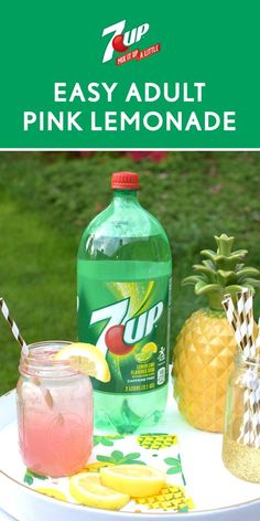 This Easy Adult Pink Lemonade is no lemonade stand creation. But don't worry, made with 7UP®, vodka, pink lemonade, and fresh citrus, this boozy drink is just as refreshing! When you're in need of a simple and delicious drink recipe, this classic is sure to become your go-to for summer. Before your outdoor celebration, grab all the ingredients you need at Walmart to make party planning that much easier.
