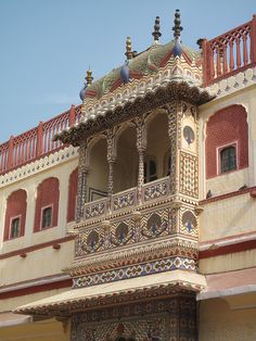 ✮ Close up of blacony of City Palace, Jaipur, Rajasthan - India