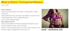 What Is Fitness Training And Wellness  ( fitness center ) ( fitness program ) ( body fitness ) ( fitness factory )  #fitness #fitnesscenter #whatisfitness #whatisfitnesstraining #whatisfitnessandwellness #fit #fitnesscentre #health #healthandfitness #musclefitness #muscle