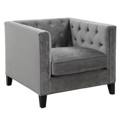 Trying to decide on a chair for the sitting area...Royce Chair - Charcoal from Z Gallerie