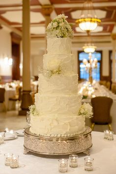 rustic ballroom wedding cake idea; Featured Photographer: The Nichols