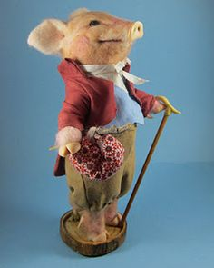 Needle felted Pigling Bland inspired by Beatrix Potter created by Robin Joy Andreae
