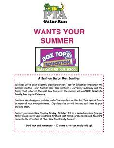 summer boxtop contest