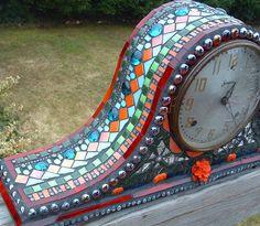 Mantel Clock by Amanda Edwards (mandolinmosaics), via Flickr