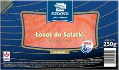 #Łosoś do sałatki to starannie wyselekcjonowane rozdrobnione mięso łososia norweskiego. Łosoś #wędzony #sałatkowy idealnie komponuje się z każdym rodzajem sałaty, dzięki czemu stanowi doskonałą propozycję dla osób dbających o linię. #fit #healthy #salmon #Suempol