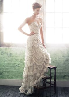 Enaura Bridal Wedding Dresses 2014 Spring Collection. To see more: http://www.modwedding.com/2014/08/11/enaura-bridal-wedding-dresses-2014-spring-collection/ #wedding #weddings #wedding_dress