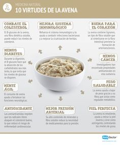 10 Healthy virtues of oats so you can motivate yourself to use it at breakfast … - Diet and Nutrition Healthy Habits, Healthy Tips, Healthy Snacks, Healthy Recipes, Breakfast Healthy, Nutrition Tips, Health And Nutrition, Health And Wellness, Weight Loss Meals