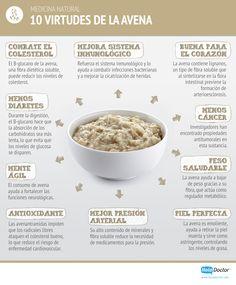 ¡Conoce las bondades de la avena! #salud #nutricion #bienestar