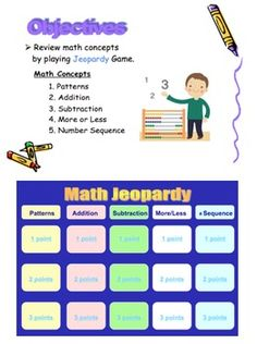 This is a PowerPoint file that reviews kindergarten math concepts such as patterns, number sequences, addition, and subtraction problems. Slides 1...