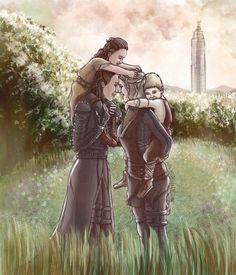 """""""Quality fam time: Heda and Wanheda taking their mini-me's out for a nice stroll in the flower field after a morning council meeting """" Meet Alex and Jake. Best Tv Couples, Cute Lesbian Couples, Lesbian Art, Lexa The 100, The 100 Clexa, Eliza Taylor, Alycia Debnam Carey, Lexa E Clarke, The 100 Serie"""