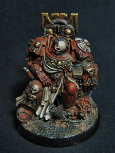 Warhammer 40k. Space Marine Terminator, dead in his seat. From the newest Space Hulk boxed set