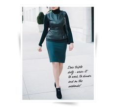 Professionelle: DVF Leather Peplum Leather Peplum Tops, We Wear, How To Wear, Skirts, Fashion Trends, Style, Swag, Skirt
