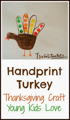 Handprint Turkey - Thanksgiving crafts for Young Kids by FSPDT
