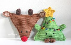 I'm back with another cuddly crochetbuddy! You may remember my Candy Corn and Christmas Tree versions, but now I have turned the pattern upside down and made a Cuddly Crochet Rudolph the Red-Nosed Reindeer! A fun gift for the kids or a festive decoration for your home. Materials: – Size G Crochet Hook – Worsted …