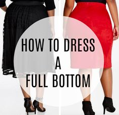 Whether you were born with a big bottom or just acquired one at a certain age, here are five styling ideas to make the most of what you've got.   Fabulous After 40 #styleover40 #over40fashion Dress Style Pakistani, Dress Style Names, Nigerian Dress Styles, Dressing Your Body Type, Dress Body Type, Plus Size Beach, Modest Summer Fashion, Fashion Courses, Simple Shoes