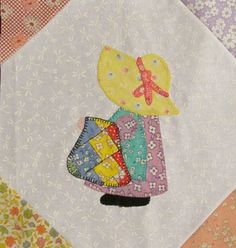 This month Sue is on here way to a Quilt Show. Click here for Sunbonnet Children 9 directions. Click here for Templates Block 9. Click here for the finishing directions.