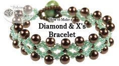 Diamonds & X's Bracelet (New Version) free tutorial from The Potomac Bead Company. Thousands of free tutorials available on www.youtube.com/.... Supplies from www.TheBeadCo.com www.potomacbeads.com