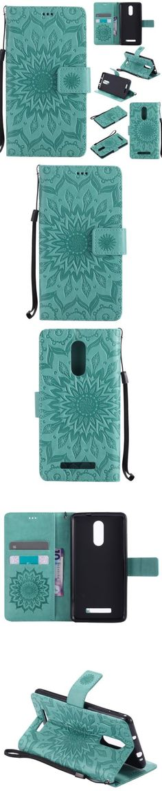 Yanxn Sun Flower Printing Design Pu Leather Flip Wallet Lanyard Protective Case for Xiaomi Redmi Note 3 -$6.48