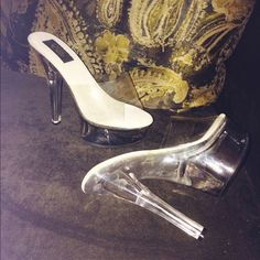 glass heels Shoes 6-8in heel glass  new sz8 Shoes