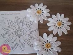 Crochet Flower Patterns Her Diy Crochet Flowers, Diy Crafts Crochet, Crochet Sunflower, Crochet Daisy, Mode Crochet, Crochet Flower Tutorial, Crochet Leaves, Crochet Motifs, Crochet Flower Patterns