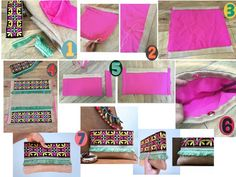 DIY CLUTCH - Cartera de mano etnica.