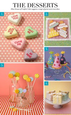 Mini cakes and cookies from Confetti Cakes--so cute! via Ceci Style