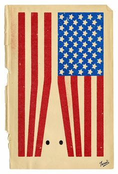 A worn print of an American flag turned on its side. The red stripes form a shape of a KKK hood, 2 black circles for eyes. Protest Posters, Poster Fonts, Political Art, Media Images, Identity Design, Graphic Design Inspiration, Installation Art, American Flag, Illustration Art
