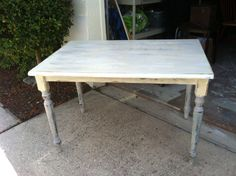 New distressed table using Milk paint!!!