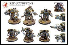 Red Scorpions Devastator Centurion squad   Flickr - Photo Sharing!