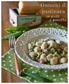 Gnocchi di pastinaca con piselli e pancetta – Parsnip gnocchi with peas and pancetta
