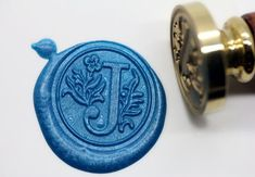 S1152 Alphabet Letter J Wax Seal Stamp Sealing by MoldsWorld