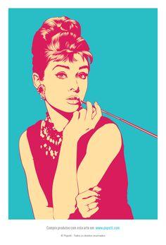 Audrey Hepburn (2014)  © Popstil - Todos os direitos reservados  Produtos Popstil  - http://loja.popstil.com  #Design #Criatividade #Ilustração #Cinema #AudreyHepburn #BonequinhaDeLuxo