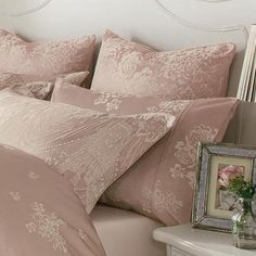 Dorma Pink Lucille Collection Cuffed Pillowcase