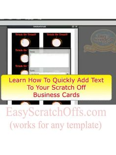 How to make scratch off cards ... wedding idea: use as save the date announcements or make your own game for favors at shower or reception. She's using the free templates here: http://store.easyscratchoffs.com/scratch-off-templates/ #scratchoffstickers