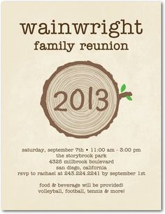 Family Reunion Invitation With Enough Space For Schedule Event