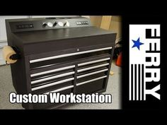 Ⓕ Custom Workstation / Tool Cart (ep4) WITH Built In Air Compressor