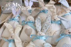 Coniglietti Tippi: tenere bomboniere per un battesimo . Non li trovate adorabili? **