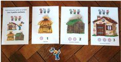 Photos du livret Trois petits cochons chez Christine F - école petite section Critique Film, Little Pigs, Photos Du, Storytelling, Children, School, Montessori, 1, Preschool
