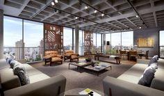 Adobe Photoshop, Autodesk 3ds Max, Loft, Living Room Inspiration, Best Interior, Interiores Design, Condo, Beautiful Places, Patio