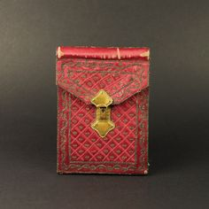 Antique 18th Century Silk Pocketbook Letter Case by OneBakerStreet
