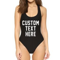 a719814247 CUSTOM Black RED or White One Piece Swimsuit Create by ADashofChic Black  One Piece Swimsuit