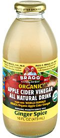 THIS STUFF IS AMAZING!!! Ingredients: Distilled water, Bragg's ACV, organic ginger, organic stevia.  Hubs and I loved it! So energizing and without a low! We could drink it on our super crazy diet! YAY!!!!!!!!!
