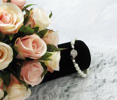 Pearl Wedding Bracelet by Keepsakes By Katherine on Etsy