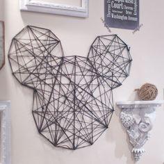 How to Make a Twine Mickey Wall Art @McKenna Reynolds @Quinn Reynolds @Shannon Reynolds !!!