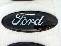 "Ford Truck f 150-350 BLACK CUSTOM Emblem, 9 inch, Sticks on, Ford Part ,2004-2012 all 9"",Front/Rear,other sizes"