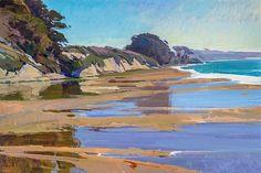 Trademark Global Marcia Burt October High Tide Canvas Art - x 26 Landscape Art, Landscape Paintings, Flower Landscape, Landscape Lighting, Artist Canvas, Canvas Art, Guache, Seascape Paintings, Fine Art