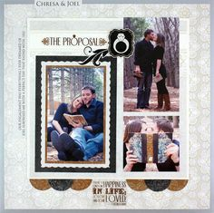 The Proposal Divine #Wedding Planning #Scrapbooking Layout from Creative Memories     http://www.creativememories.com