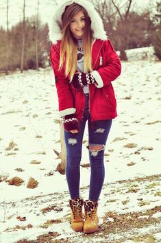 Winter is truly a lovely season with fairytale-like scenery in addition to cute looks. Winter is a perfect time to receive outside and stretch your le. Fall Winter Outfits, Winter Wear, Autumn Winter Fashion, Winter 2017, Dope Outfits, Casual Outfits, Fashion Outfits, Womens Fashion, Snow Outfit